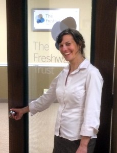 Christy Meyer opens up The Freshwater Trust's new office in Boise, Idaho.