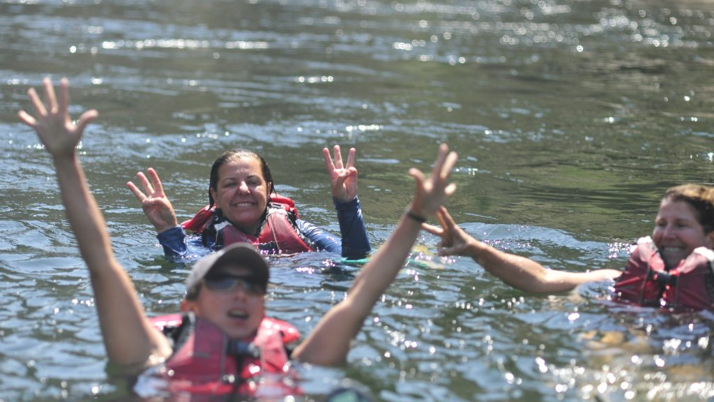 Michelle (in back) and other Women on Water participants.