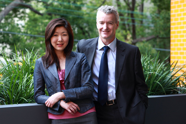 Professor Andrew Spillance and April Wong