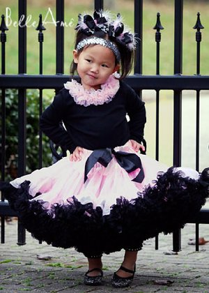 Belle Ame Light Pink and Black Pettiskirt