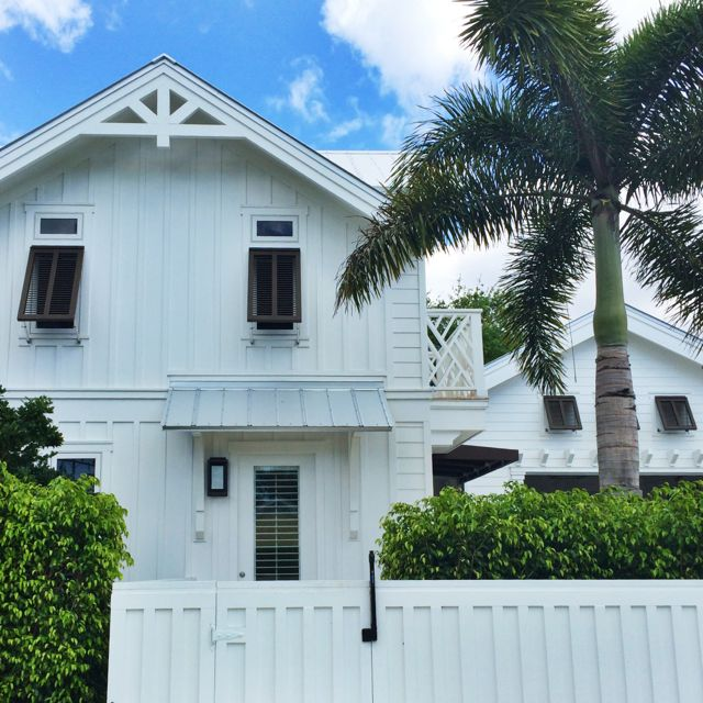 Naples Florida home with Bahama shutters