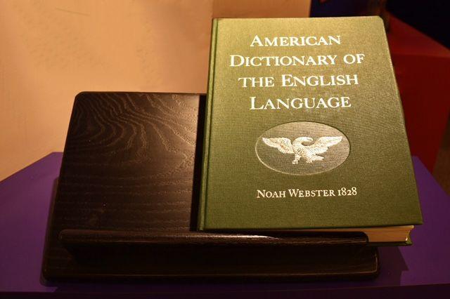 dictionary, noah webster, history, noah webster house, west hartford historical society
