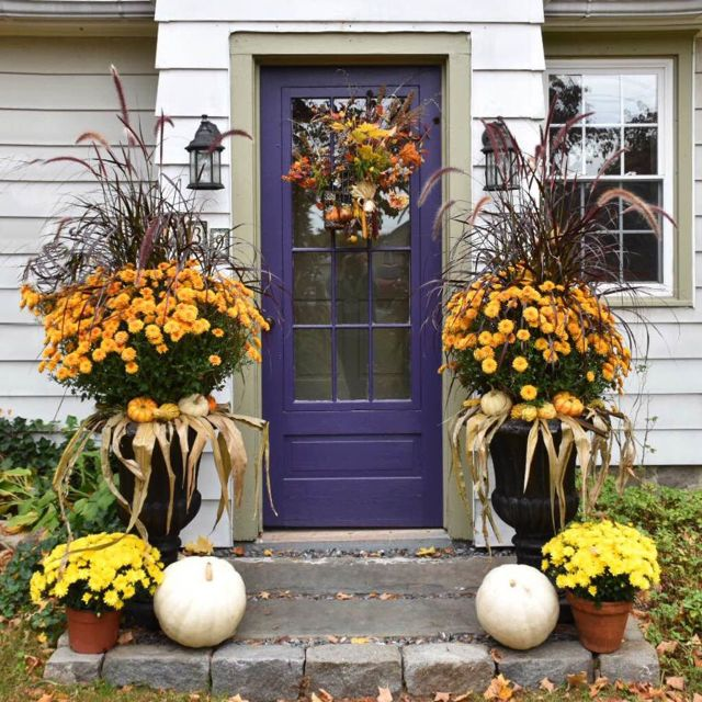 fall, front door, door, fall decor, door decor, home decor