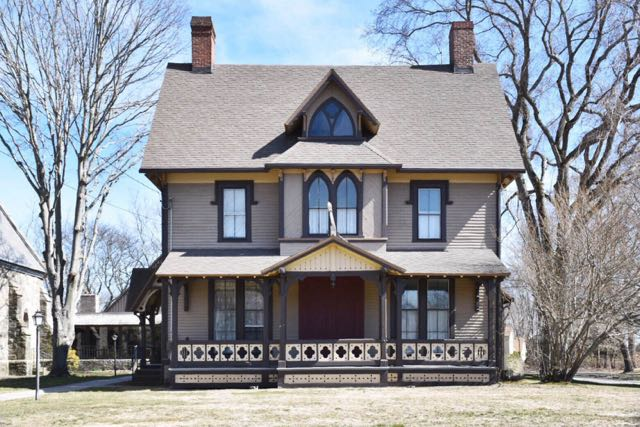 saybrook point, gothic home, old saybrook, ct