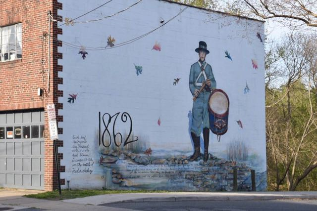 battle of fredericksburg, mural, virginia
