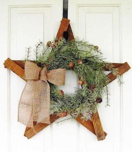 wreath, winter, christmas