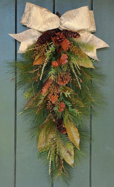 wreath, swag, winter