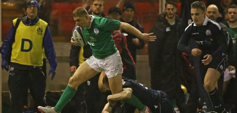 Jordan Larmour , Ireland U20, RBS U20 Six Nations
