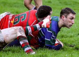 Ulster Club Rugby. Larne III's 5 Grosvenor III's 32 (McCambley Cup)