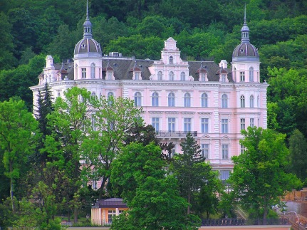 The Real Grand Budapest Hotel. Palace Bristol Hotel in Karlovy