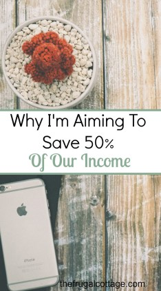 Why I'm Aiming To Save Our Income
