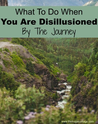 What To Do When You Are Disillusioned By The Journey