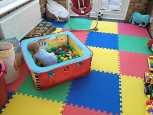 I think the Frugal Baby is going to like his playroom...