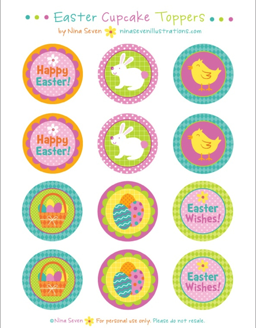 Mini Bag Toppers Free Printable Easter