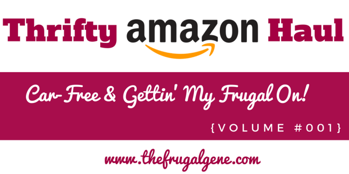 Thrifty Amazon Haul - Car-Free & Gettin' My Frugal On {Volume 001}