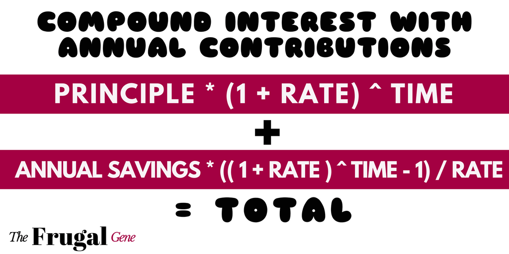 compound 2, compound interest with annual contributions