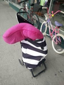 pink, pillow, thrift store