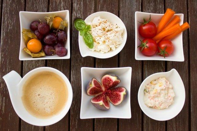 dinner plates photo food
