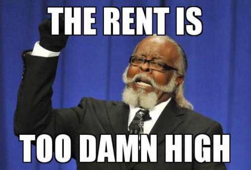 rent is too damn high meme