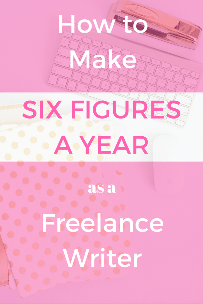 How to make six figures a year as a freelance writer! Are you wanting to bring in extra income each month for your family? Or perhaps you want to quit your full-time job or have your husband quit his! If so, this tutorial on how to make six figures a year as a freelance writer is for you!