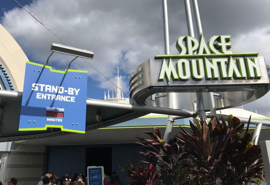 Space Mountain stand-by entrance