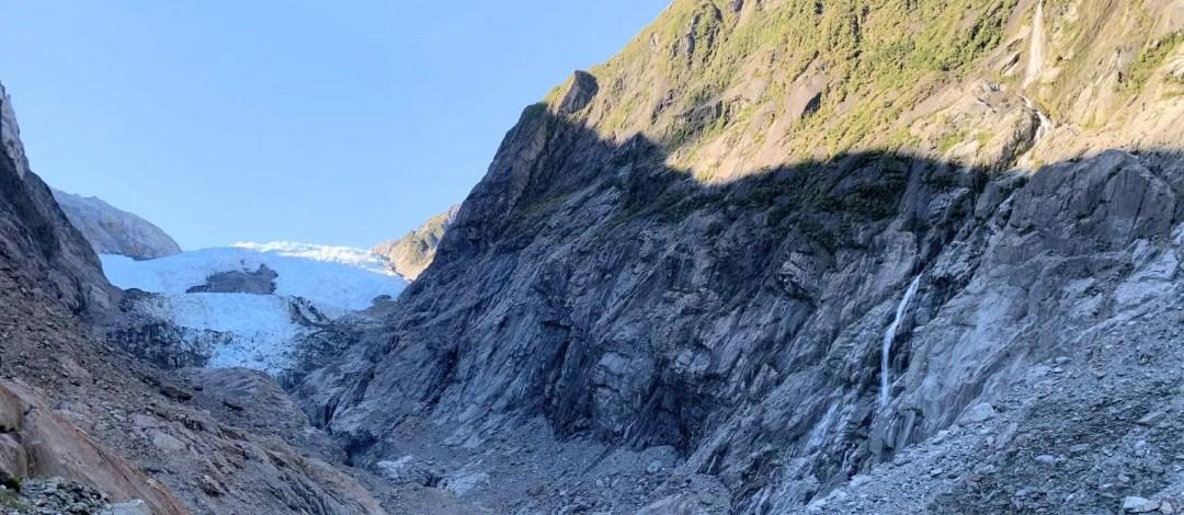 The terminal face of Franz Josef Glacier