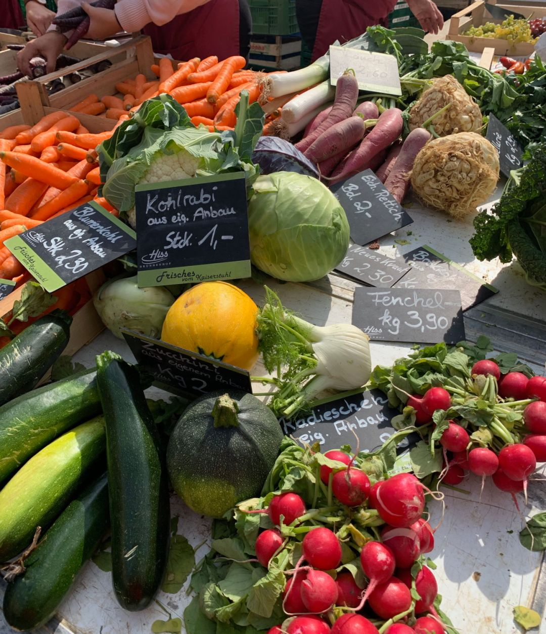 Vegetables at the Münsterplatz Food Market