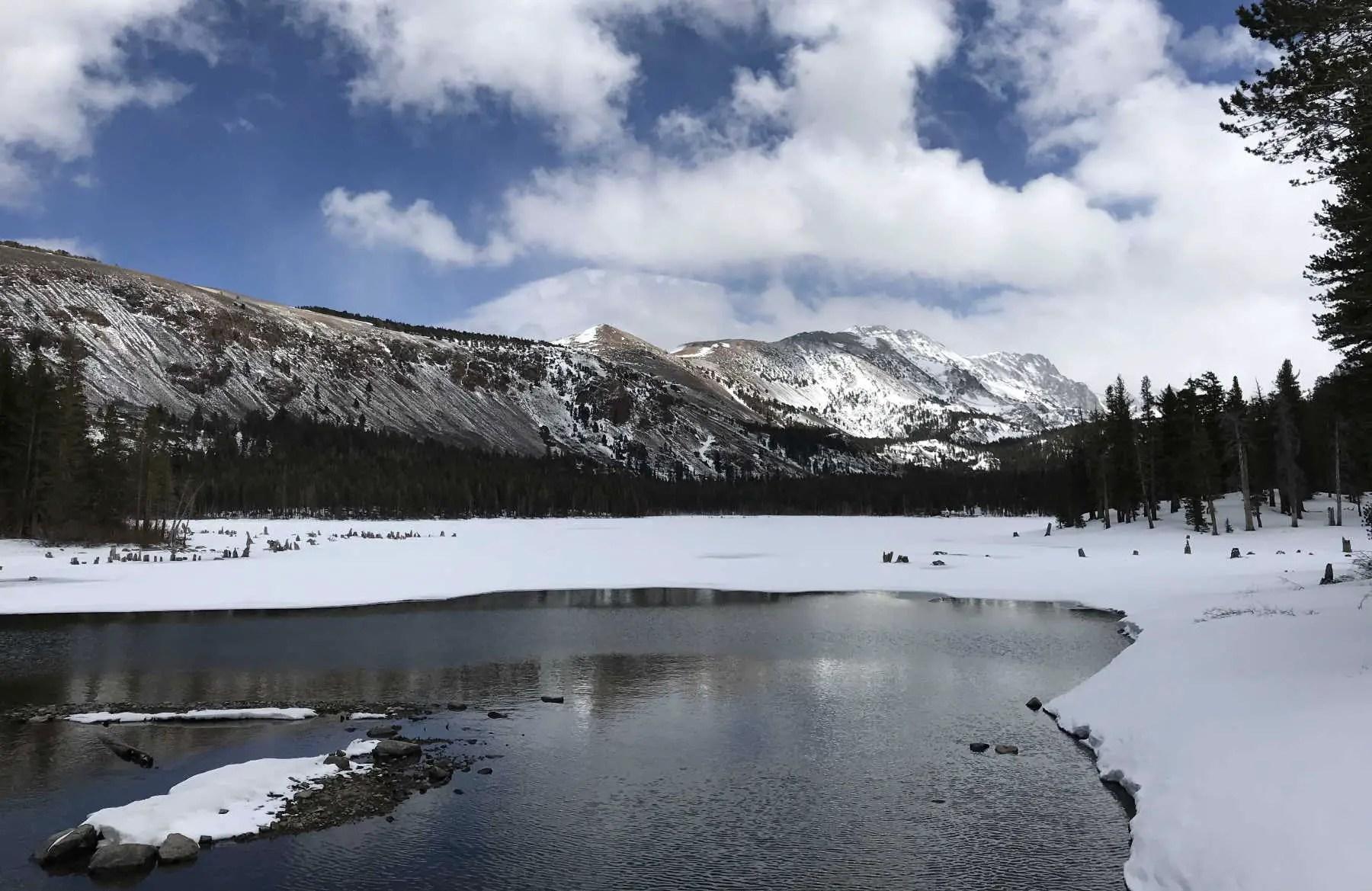 Lake Mary trail at the Tamarack Cross-Country Ski Center