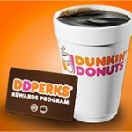Dunkin' Donuts: Free $10 + Free Any Size Beverage with Dunkin Mobile App