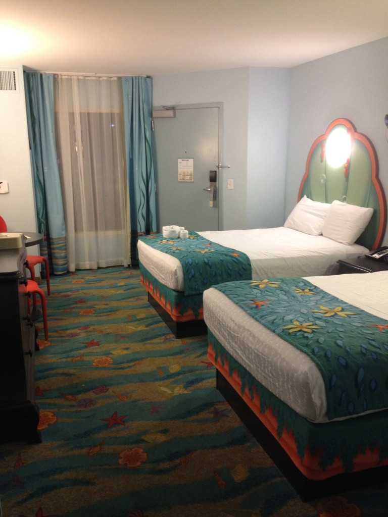 beds and window in little mermaid room - Disney Art of Animation Resort Review
