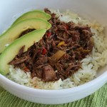 Easy Crockpot Ropa Vieja: Cuban Pulled Beef with Pepper & Onions