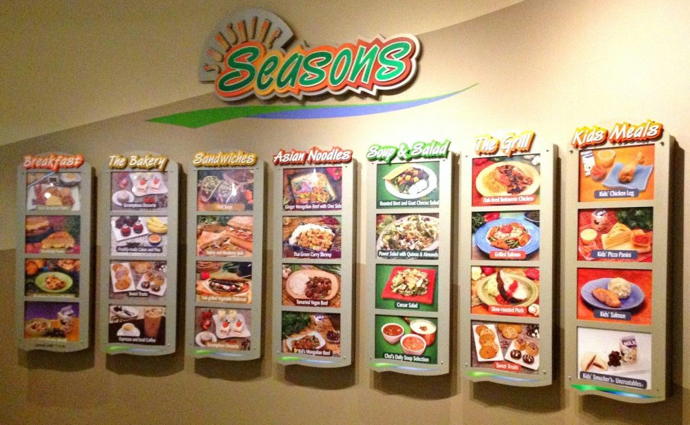 Seasons photo menu wall