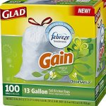 Amazon: Glad OdorShield Tall Kitchen Trash Bags 100 count as low as $12.59