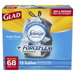 Amazon: Glad ForceFlex OdorShield Kitchen Trash Bags 68 ct. as low as $10.48 (BEST Trash Bags!)