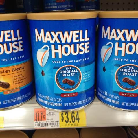Can of Maxwell House Coffee