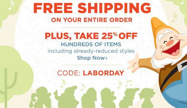 4ed254713d Disney Store  Free Shipping (No Minimum) + 25% off Hundreds of Items ...