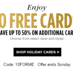 Shutterfly: 10 Free Greeting Cards (Just Pay Shipping)