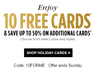 Shutterfly 10 free greeting cards just pay shipping the frugal through sunday use the promo code 10forme and score 10 free photo greeting cards at shutterfly you will have to pay shipping which has been under 6 in m4hsunfo