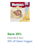 Amazon: Up to 50% Off Huggies Diapers