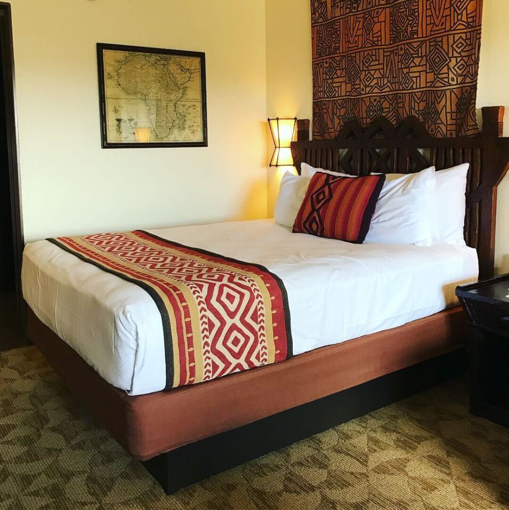 Bed at animal kingdom lodge
