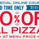 Dominos: 50% off All Pizzas When You Order Online