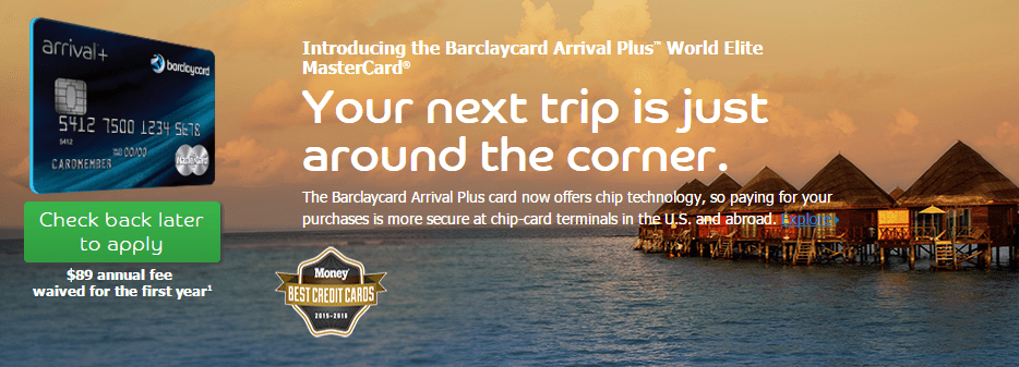 Barclaycard Arrival Plus promotional image