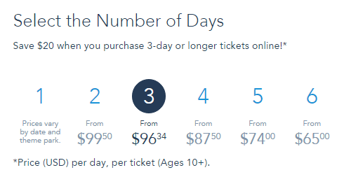 select number of days for park tickets image
