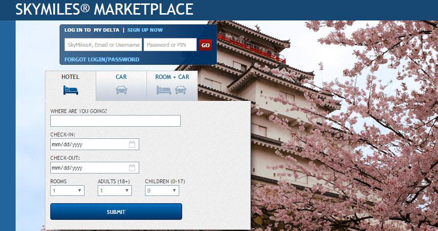 skymiles marketplace website