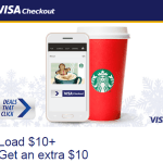 Visa Checkout: Free $10 Starbucks Bonus When You Add $10+