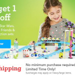 ToysRUs: Free Shipping + Buy One Get One 40% Off Lego Sets