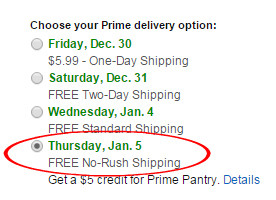 prime delivery options