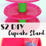Easy $2 DIY Cupcake Stand