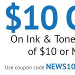 CompandSave.com: $10 Off $10 on Printer Ink Cartridges!
