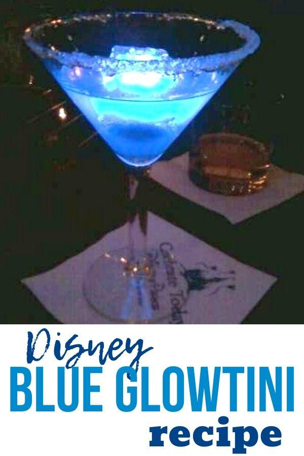 Disney Blue Glowtini Recipe Pinterest Image